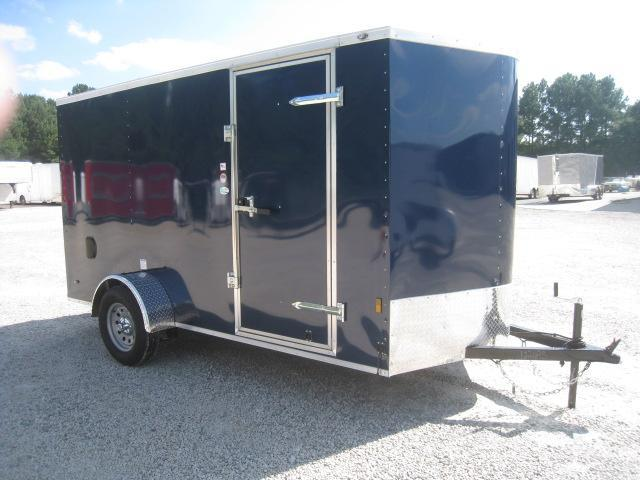 2019 Continental Cargo Sunshine 6x12 Vnose Blue Enclosed Cargo Trailer