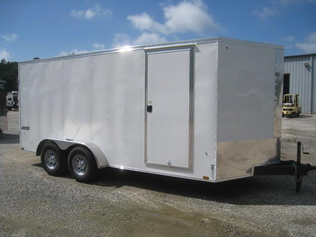 2019 Pace American Journey 7x16 Enclosed Cargo Trailer with Double Rear Doors and Big Axles
