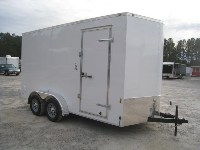 "2019 Continental Cargo Sunshine 7 x 14 Vnose Enclosed Cargo Trailer with 12"" Extra Height"