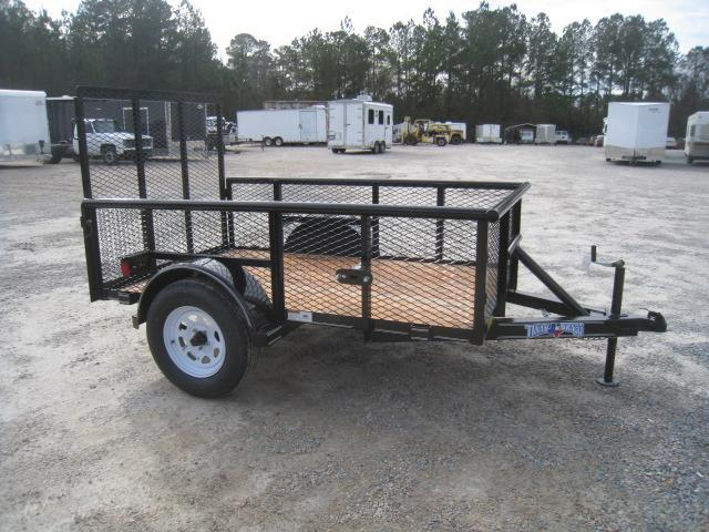 "2019 Texas Bragg Trailers 5x8P Utility Trailer with 24"" Expanded Metal Sides"