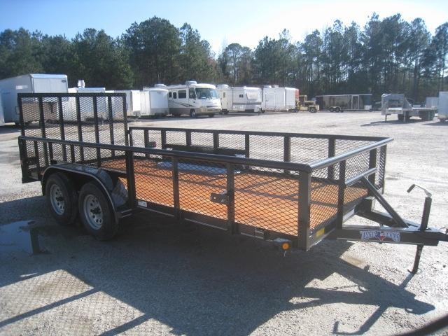"""2020 Texas Bragg Trailers 16' Utility Trailer with 24"""" Expanded Metal Sides"""