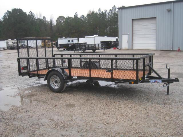 "2018 Texas Bragg Trailers 6X14P Utility Trailer with 24"" Expanded Metal Sides"