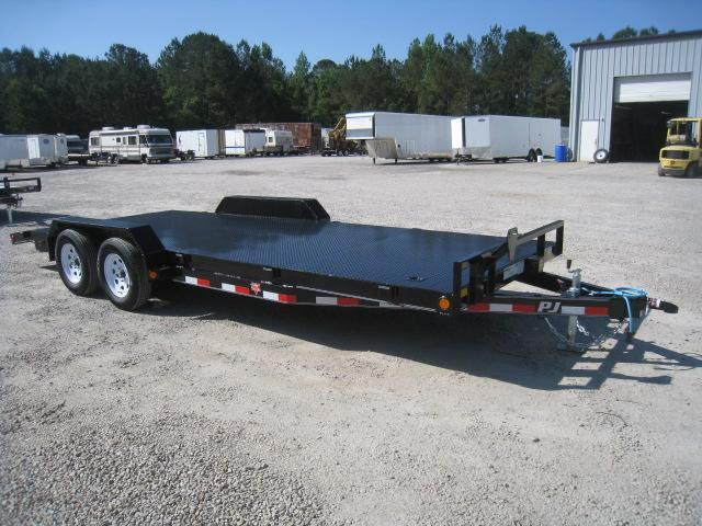 "2020 PJ Trailers C5 5""  Channel 20'  Car Hauler with Full Metal Deck"