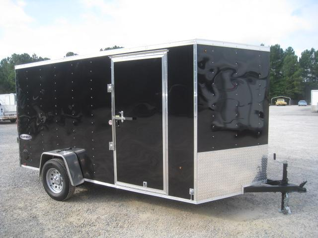 2019 Look Trailers Element 6x12 Vnose Enclosed Cargo Trailer with Ramp Door