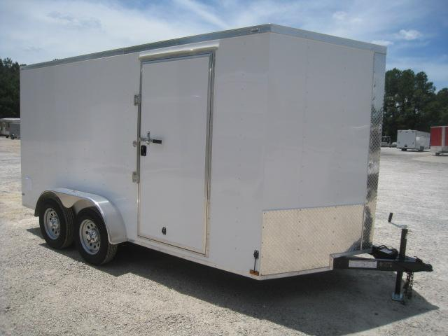 2019 Lark 7 X 14 Vnose Enclosed Cargo Trailer with Ramp Door