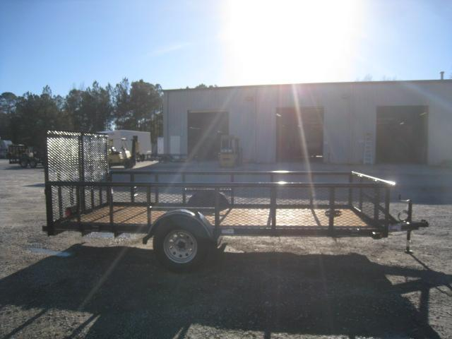 "2019 Texas Bragg Trailers 6X14P Utility Trailer with 24"" Expanded Metal Sides"