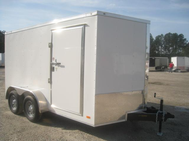 2020 Covered Wagon Trailers Gold Series 7 x 12 Vnose Enclosed Cargo Trailer
