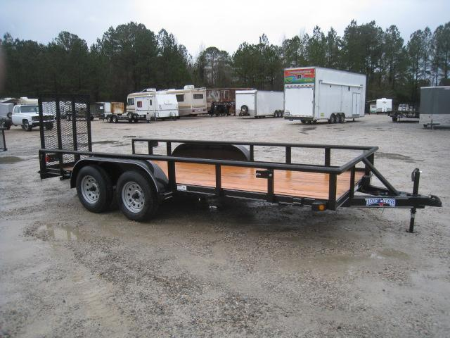 2019 Texas Bragg Trailers 16P Utility Trailer with Reinforced Rear Gates