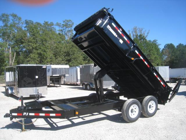 2019 PJ Trailers DL 14X83 Low Pro Dump Trailer with Tarp