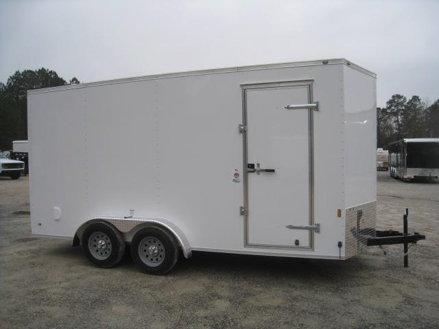"2019 Continental Cargo Sunshine 7x16 Vnose Enclosed Cargo Trailer 12"" Extra Height"