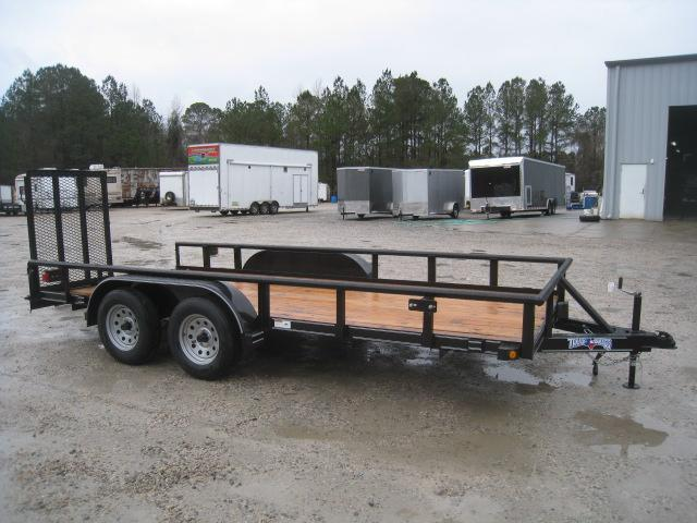 2019 Texas Bragg Trailers 16P Utility Trailer with Heavy Duty Rear Gates