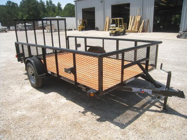 "2018 Texas Bragg Trailers 6X12P Utility Trailer with 24"" Expanded Metal Sides"