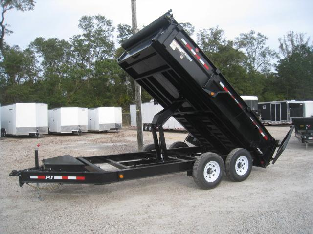 2019 PJ Trailers DL 14 x 83 Low Pro Dump Trailer with Tarp