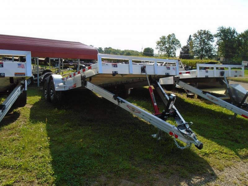 2019 H and H Trailer 18 Aluminum Speedloader autotransport/Tilt Trailer