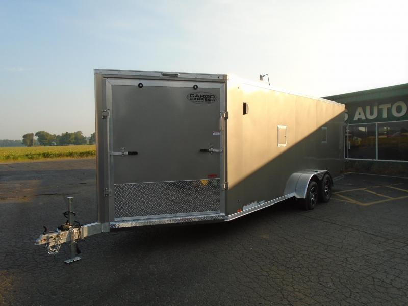 2020 Cargo Express 7x25 7k AP Series Snowmobile Trailer