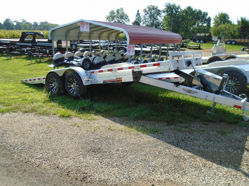 2019 H and H Trailer 20 Aluminum Auto/Tilt Transport 10k Car / Racing Trailer