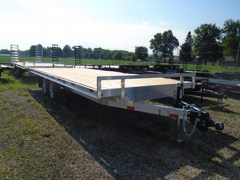"2019 H and H Trailer 102""x20' Aluminum/wood 10k Deckover Equipment Trailer"