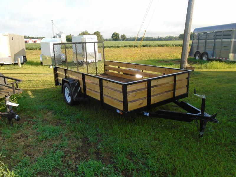 2019 Nation Tank and Trailer 6 1/2x 12 3 board side SA Utility Trailer