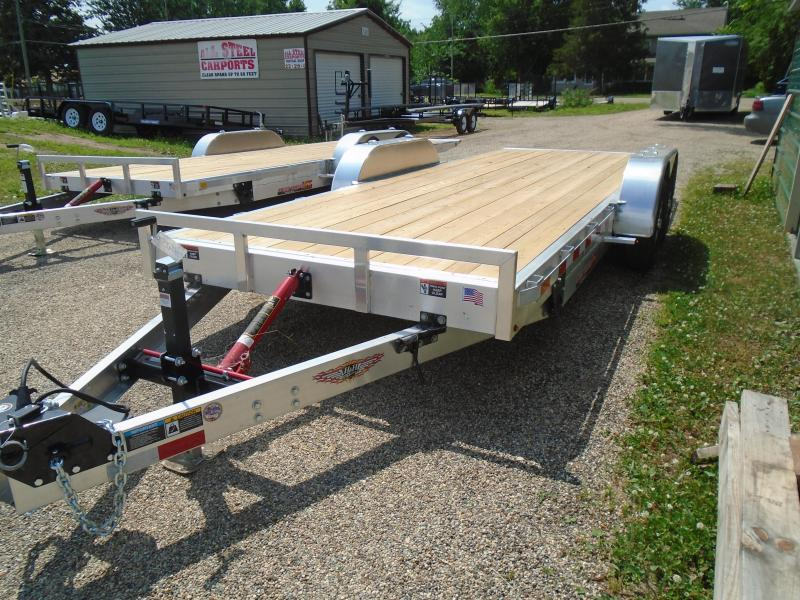 2019 H and H Trailer 20' aluminum/wood 10k manual tilt Car / Racing Trailer