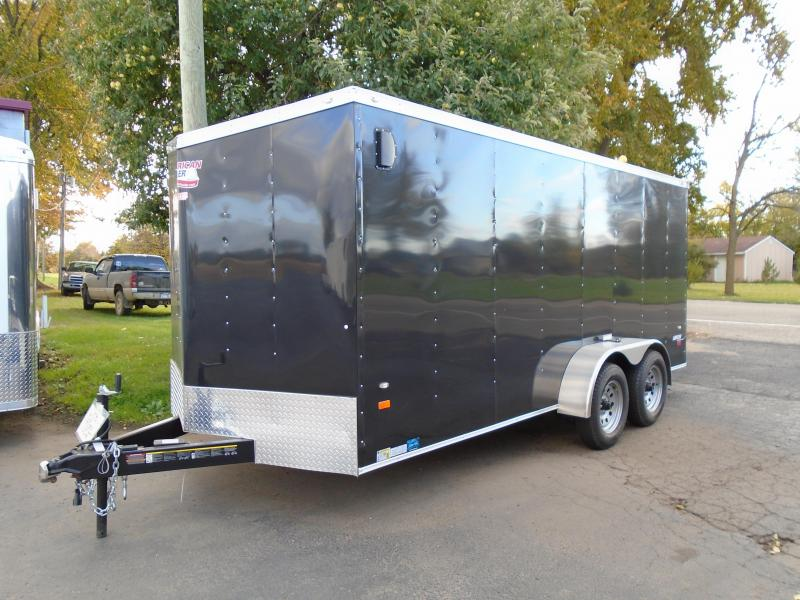 2017 American Hauler Industries 7 X 16 Enclosed Cargo Trailer