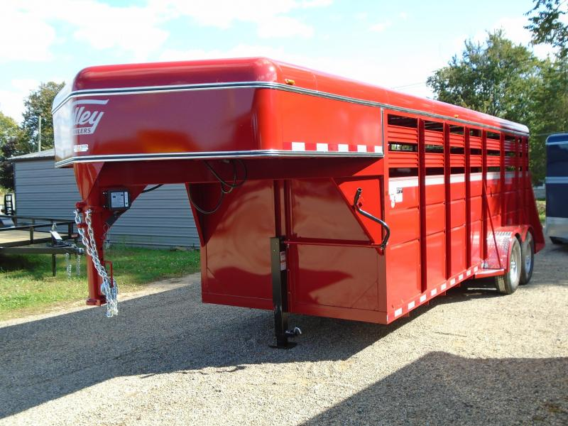 2019 Valley Trailers 6.8x20 stock Gooseneck 66 Livestock Trailer