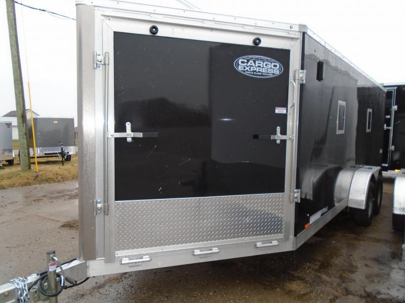 2017 Cargo Express 7X23 Aluminum Enclosed Snowmobile Trailer