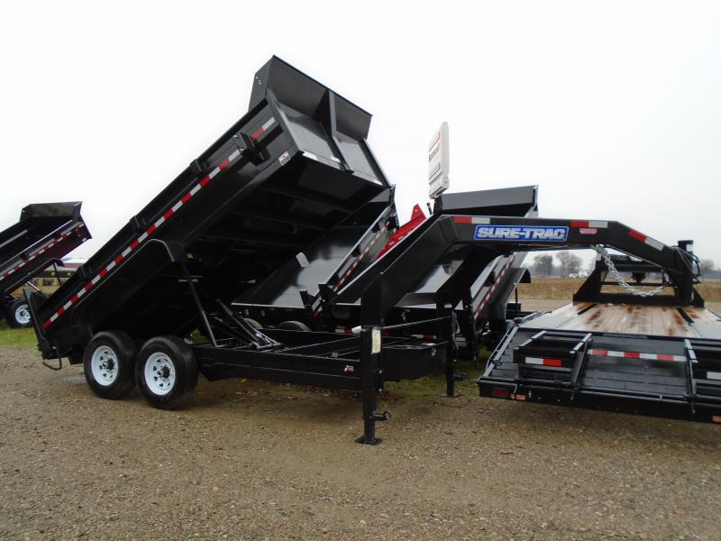 2018 Sure-Trac 14' Goose Neck Dump Trailer