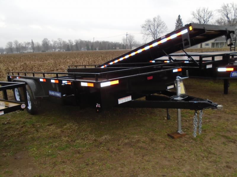 2017 Sure-Trac 7 X 16 Steel Side Landscape Trailer