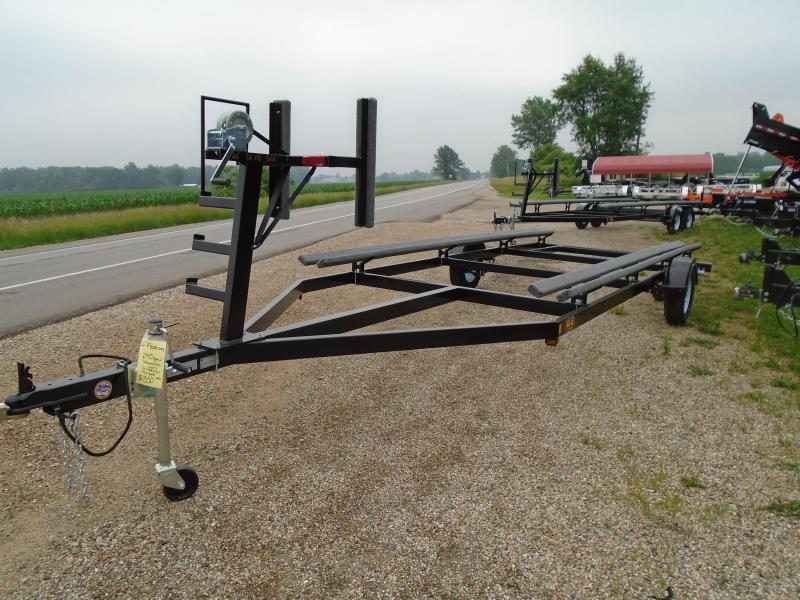 2018 20' single axle GE Float on pontoon trailer