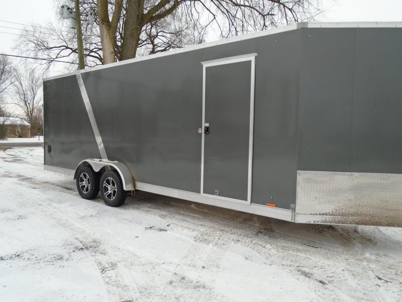 2018 Cargo Express AX Series 7x27 Snowmobile Trailer