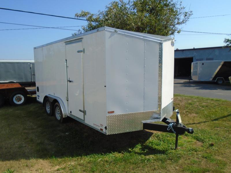 2018 Continental Cargo 8X16 V-Nose Enclosed Cargo Trailer