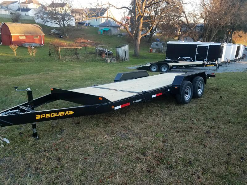2018 Pequea T200 20 TILT DECK Equipment Trailer