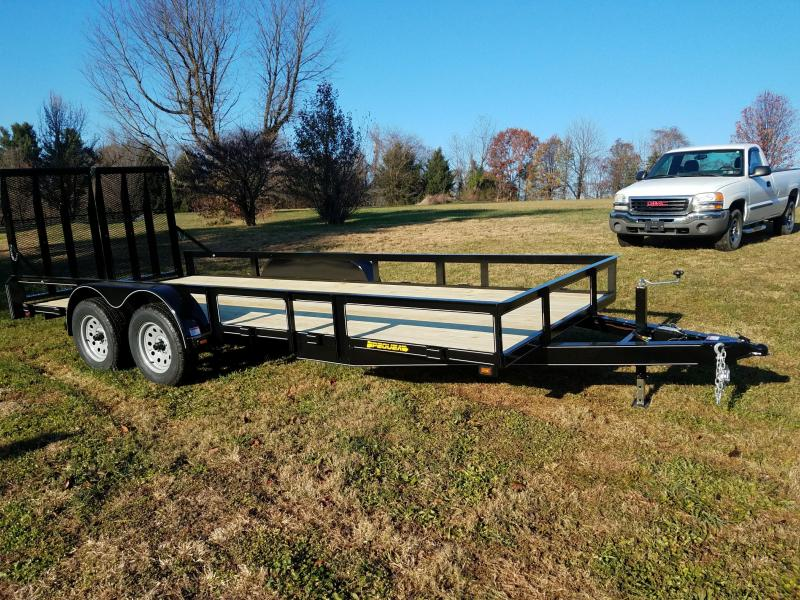 2018 Pequea 80x18 Utility Trailer with ramps