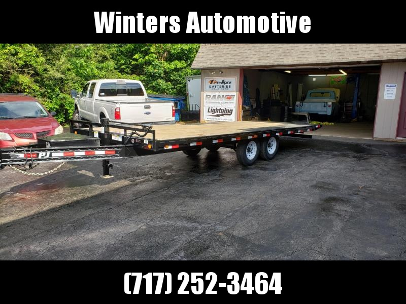 2019 PJ Trailers 22 Deckover Tiltbed Equipment Trailer