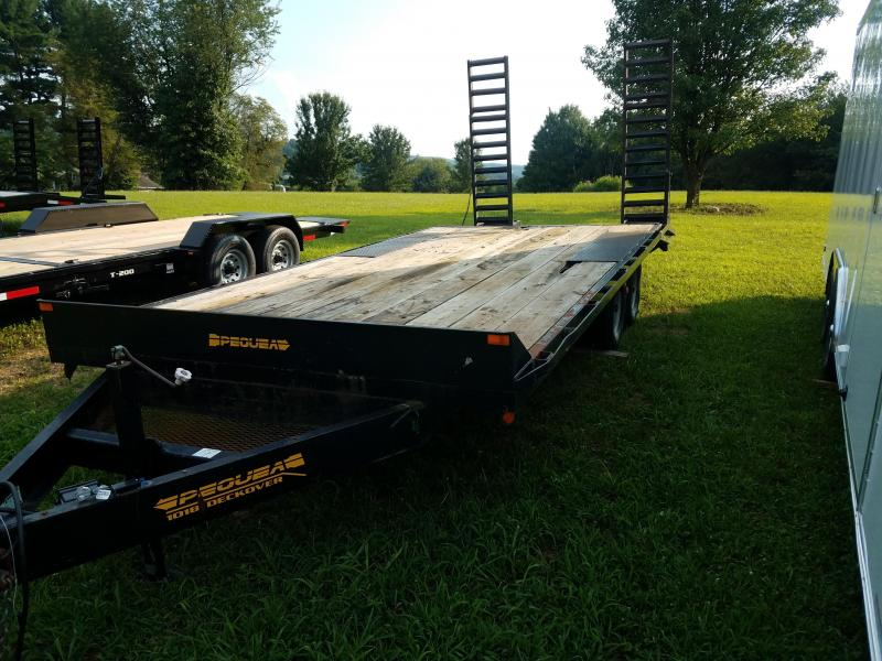 2008 Pequea 1018 Deckover Equipment Trailer