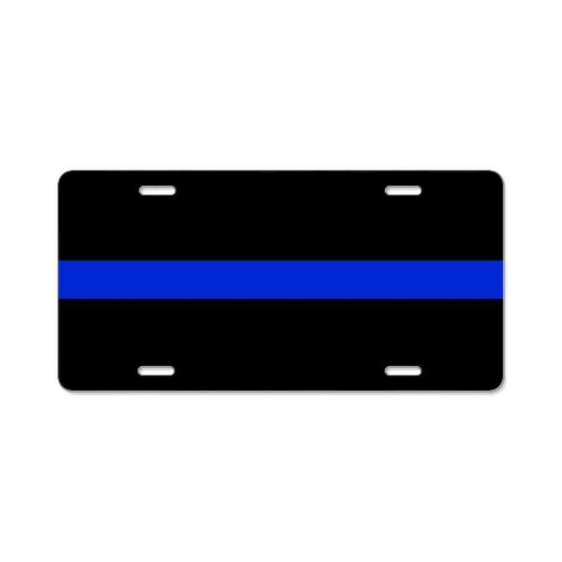 CafePress - Thin Blue Line License Plate