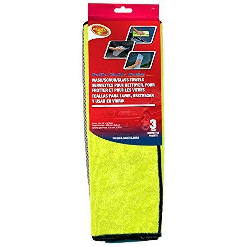 Detailer's Choice 3-501 Microfiber Wash/Scrub/Glass Towels - 3-Pack - 1-Each