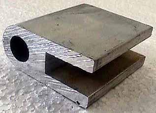 2 1/4 Alum. Hinge Block Ferrulles 9/16 Holes