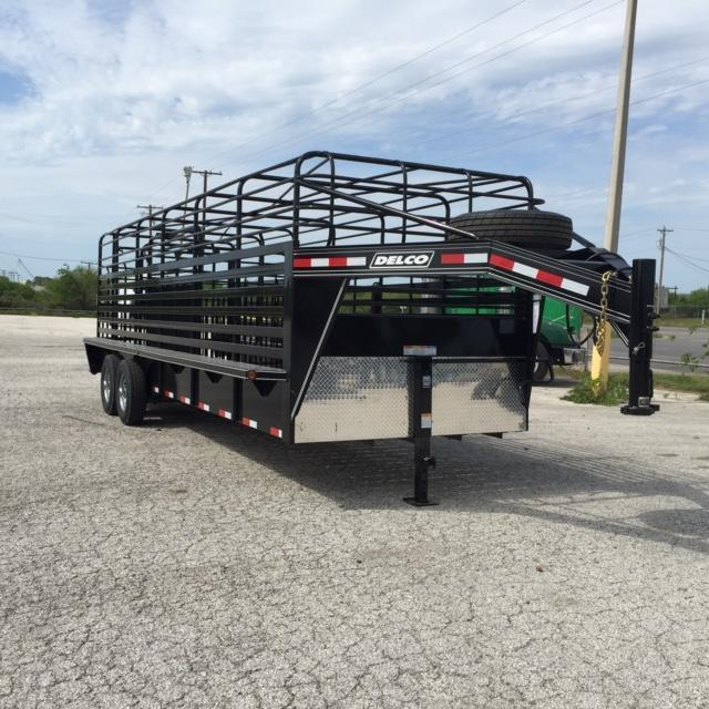 2016 Delco Trailers Bar Top Stock Trailer