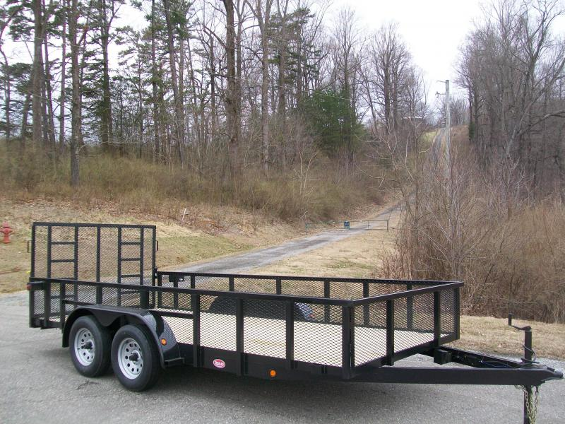 "Better Built 6'10"" x 16 24"" Mesh Sided Tandem Landscape Trailer"