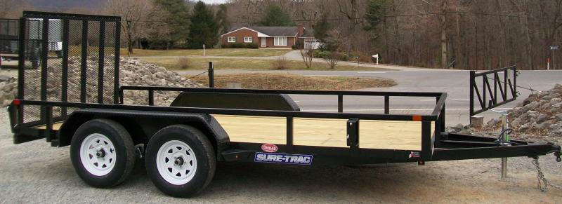 "Sure-Trac 6'9"" x 14 Tube Top Gate Utility Trailer"