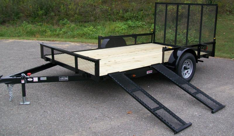 "Better Built 6'10"" X 14 Side Ramp Utility Trailer"