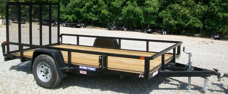 """Sure-Trac 6'9"""" x 12 Tube Top Utility Trailer With Brakes"""