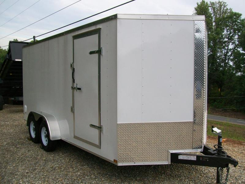 "Lark 7 x 16 Enclosed Cargo Trailer 6'6"" Interior"
