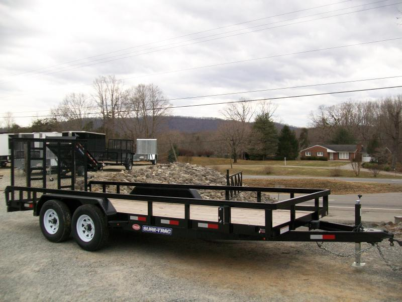 "Sure-Trac 6'9"" x 20 Tube Top Tandem Gate Utility Trailer"