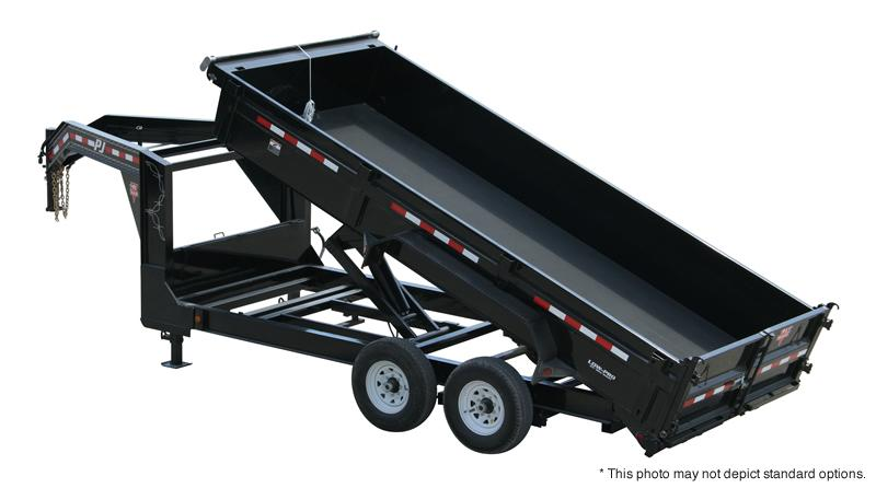 "2018 PJ Trailers 16' x 83"" Low Pro XL Dump Trailer"