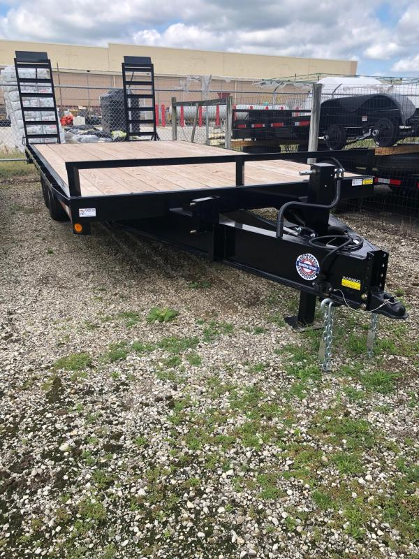 "2020 Quality Steel 102"" X 20' 14K GVWR Flatbed Trailer $5240"