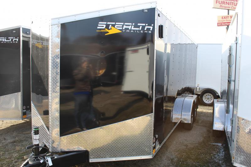 2019 Stealth Mustang 7X18 7K GVWR Enclosed Cargo Trailer
