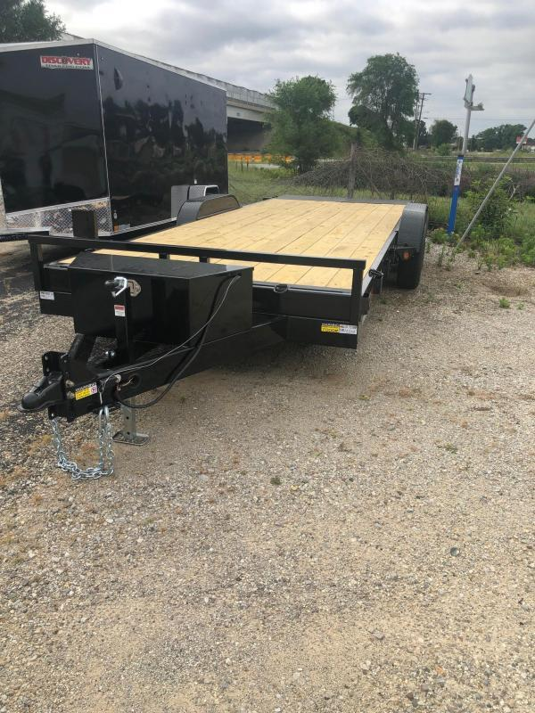 "2020 Quality Steel 83"" X 20' 10K GVWR Tilt Car Trailer"