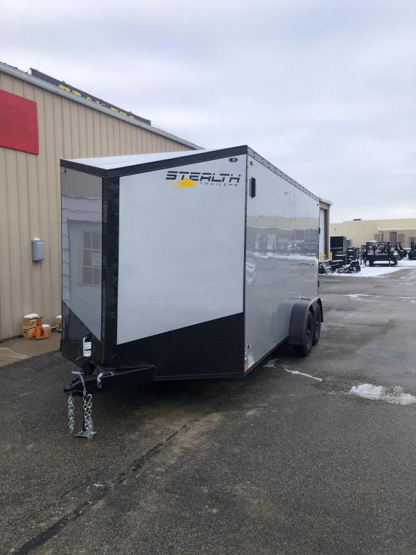 2019 Stealth Titan 7X16 7K GVWR Blackout Cargo Trailer